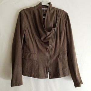 Miilla Brown Stitch Fix Zipper Front Jacket